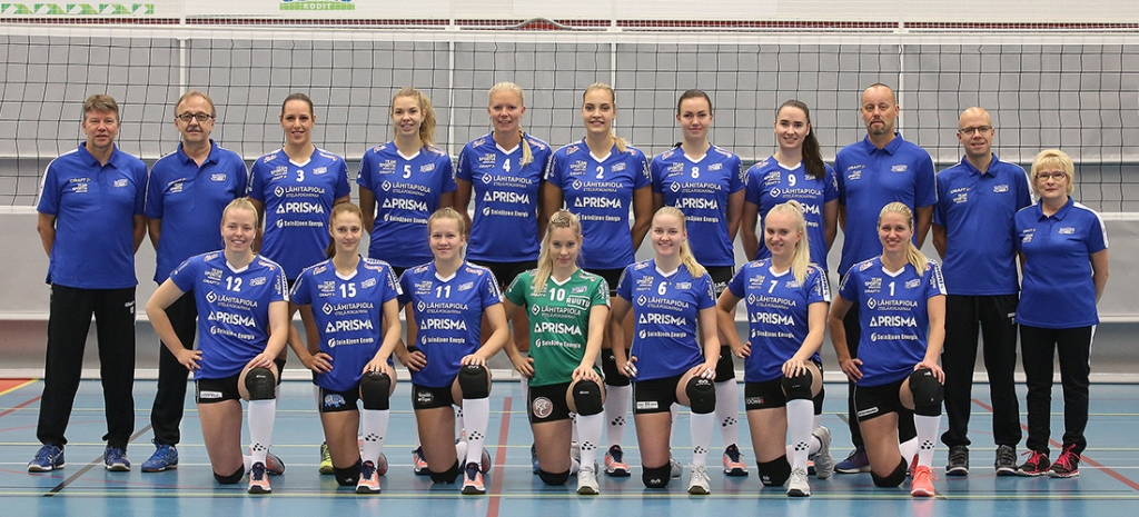 Jymy Volley joukkuekuva 2017-18