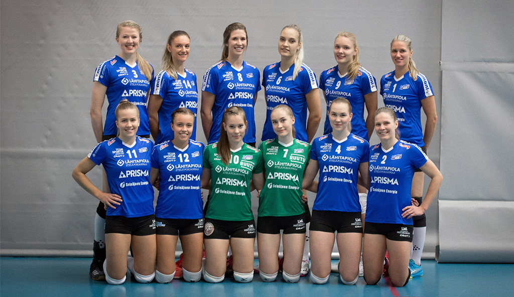 Jymy Volley joukkuekuva 2018-19